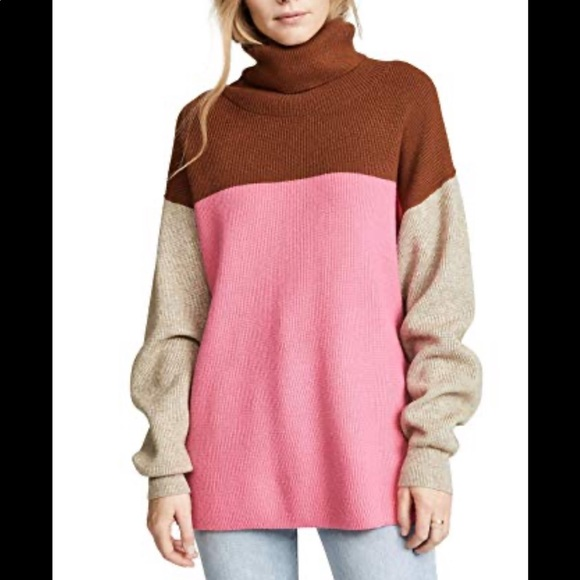 Free People Sweaters - Free People Softly Structured Color Block Tunic
